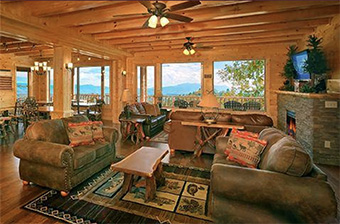 A View for all Seasons 12 bedroom pet friendly cabin Pigeon Forge by Alpine Chalet Rentals