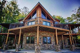 big bear lodge 6 bedroom pet friendly cabin Pigeon Forge by Summit Cabin Rentals
