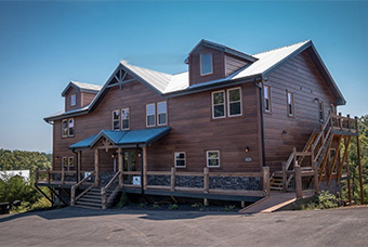 Big Forest Lodge 16 bedroom pet friendly cabin Pigeon Forge by Cabins for You