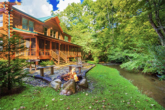 Creekside Getaway 8 bedroom pet friendly cabin Pigeon Forge by Timber Tops Cabin Rentals