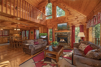 majestic mountain 4  bedroom pet friendly cabin Pigeon Forge by American Patriot Getaways