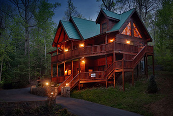 smoky mountain getaway 5 bedroom pet friendly cabin Pigeon Forge by Eden Crest Vacation Rentals