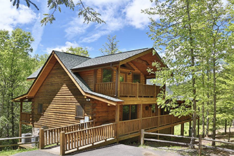 Wilderness Mountain 4 bedroom pet friendly cabin Pigeon Forge by Little Valley Mountain Resort