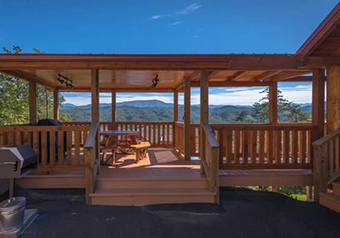 a point of view  2 bedroom pet friendly cabin in Pigeon Forge by Smoky Mountain Cabins