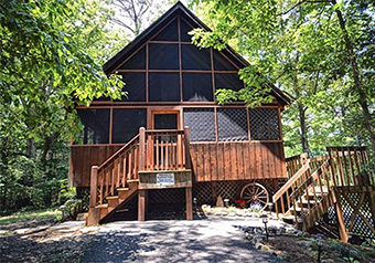 arrowhead ridge 2 bedroom pet friendly cabin in Pigeon Forge by Great Outdoor Rentals