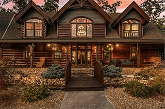 grand mountain getaway 8 bedroom pet friendly cabin in Gatlinburg by Stony Brook Lodging