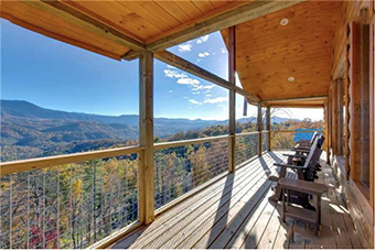 great smoky lodge 7 bedroom pet friendly cabin in Gatlinburg by Jackson Mountain Homes