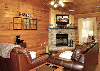mountain mist 1 bedroom pet friendly cabin by Diamond Rentals