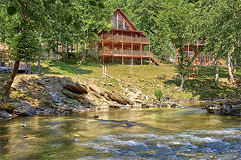river pleasures 2 bedroom pet friendly cabin in Sevierville by Cabins USA