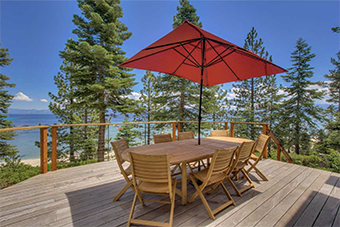 sittin on the dock  4 bedroom pet friendly cabin south lake tahoe by Tahoe Luxury Properties