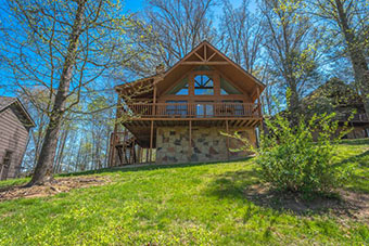 squirrels nest 1 bedroom pet friendly cabin in Pigeon Forge by Fireside Chalets