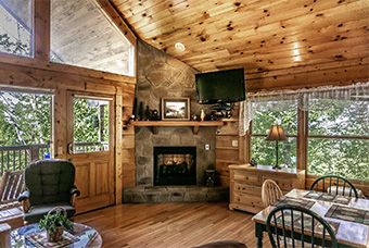 sunset hideaway 1 bedroom pet friendly cabin in Wears Valley by Acorn Ridge Cabin Rentals